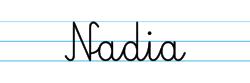 Karty pracy z imionami - nauka pisania imion dla dzieci - Nadia