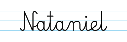 Karty pracy z imionami - nauka pisania imion dla dzieci - Nataniel