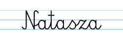 Karty pracy z imionami - nauka pisania imion dla dzieci - Natasza