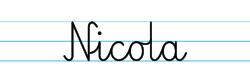 Karty pracy z imionami - nauka pisania imion dla dzieci - Nicola