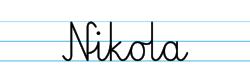 Karty pracy z imionami - nauka pisania imion dla dzieci - Nikola