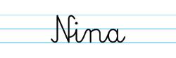 Karty pracy z imionami - nauka pisania imion dla dzieci - Nina