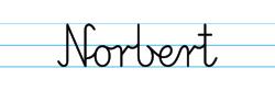 Karty pracy z imionami - nauka pisania imion dla dzieci - Norbert