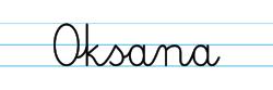 Karty pracy z imionami - nauka pisania imion dla dzieci - Oksana