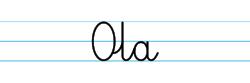 Karty pracy z imionami - nauka pisania imion dla dzieci - Ola