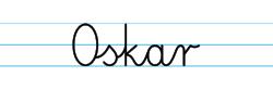 Karty pracy z imionami - nauka pisania imion dla dzieci - Oskar