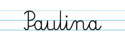Karty pracy z imionami - nauka pisania imion dla dzieci - Paulina