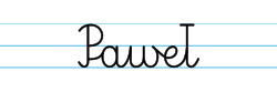 Karty pracy z imionami - nauka pisania imion dla dzieci - Paweł