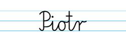 Karty pracy z imionami - nauka pisania imion dla dzieci - Piotr