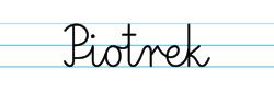 Karty pracy z imionami - nauka pisania imion dla dzieci - Piotrek