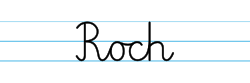 Karty pracy z imionami - nauka pisania imion dla dzieci - Roch