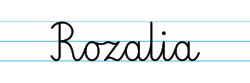 Karty pracy z imionami - nauka pisania imion dla dzieci - Rozalia