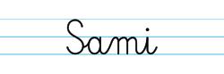Karty pracy z imionami - nauka pisania imion dla dzieci - Sami
