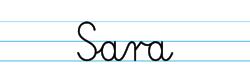 Karty pracy z imionami - nauka pisania imion dla dzieci - Sara