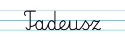 Karty pracy z imionami - nauka pisania imion dla dzieci - Tadeusz