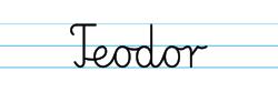 Karty pracy z imionami - nauka pisania imion dla dzieci - Teodor