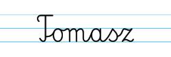 Karty pracy z imionami - nauka pisania imion dla dzieci - Tomasz
