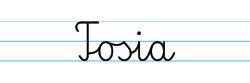 Karty pracy z imionami - nauka pisania imion dla dzieci - Tosia
