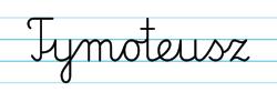 Karty pracy z imionami - nauka pisania imion dla dzieci - Tymoteusz