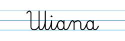 Karty pracy z imionami - nauka pisania imion dla dzieci - Uliana