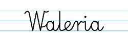 Karty pracy z imionami - nauka pisania imion dla dzieci - Waleria
