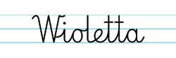 Karty pracy z imionami - nauka pisania imion dla dzieci - Wioletta
