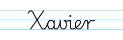 Karty pracy z imionami - nauka pisania imion dla dzieci - Xavier