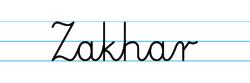 Karty pracy z imionami - nauka pisania imion dla dzieci - Zakhar