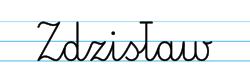 Karty pracy z imionami - nauka pisania imion dla dzieci - Zdzisław