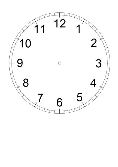 Nauka zegara dla dzieci, tarcza zegara do wydruku, Anna Kubczak
