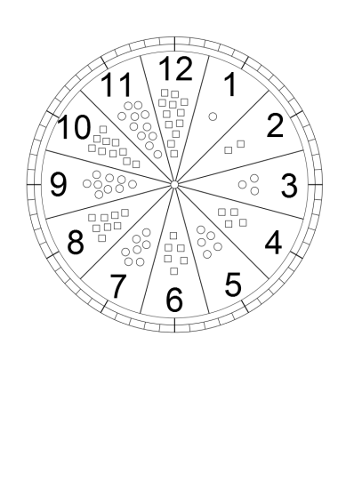 Zegar do nauki godzin dla dzieci