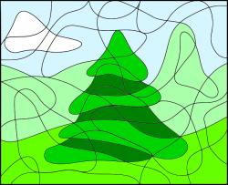 Iglak latem, choinka na Boże Narodzenie - kolorowanki dla dzieci, Anna Kubczak