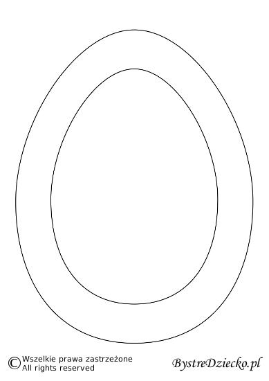 Szablon jajka do druku dla dzieci - ozdoby wielkanocne DIY
