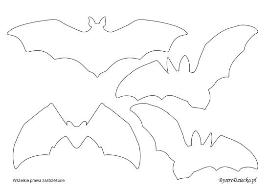 Wycinanki dla dzieci z szablonem nietoperzy na dekoracje Halloween, Anna Kubczak