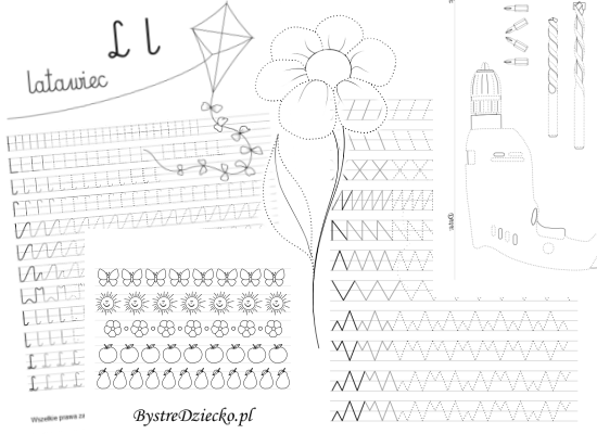 Picture and line tracing worksheets for kids