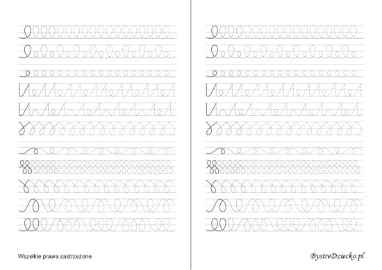 Printable line tracing worksheets which are designed to help kids develop their fine motor skills and prepare for writing, Anna Kubczak