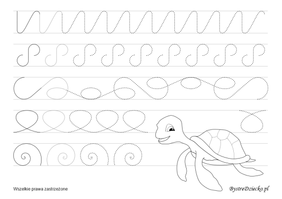 Large line tracing worksheets for kids to learn to write, Anna Kubczak