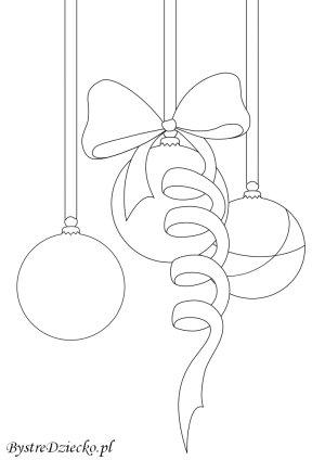 Bombki z kokardą podkreślą klimat Świąt Bożego Narodzenia - kolorowanki dla dzieci, Anna Kubczak
