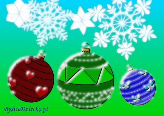 Bombki i śnieżynki - kolorowanki zimowe i kolorowanki na Boże Narodzenie