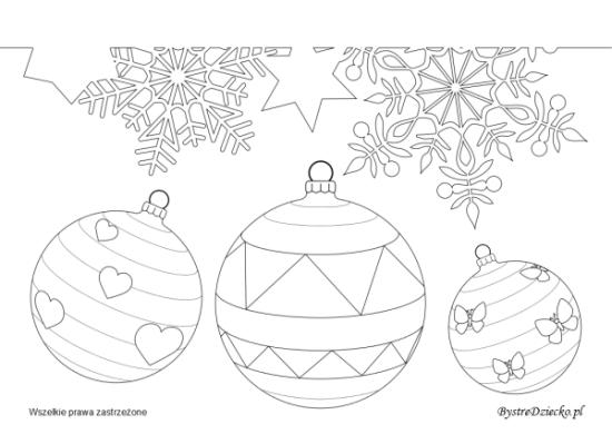 Bombki i śnieżynki - kolorowanki zimowe i kolorowanki na Boże Narodzenie, Anna Kubczak