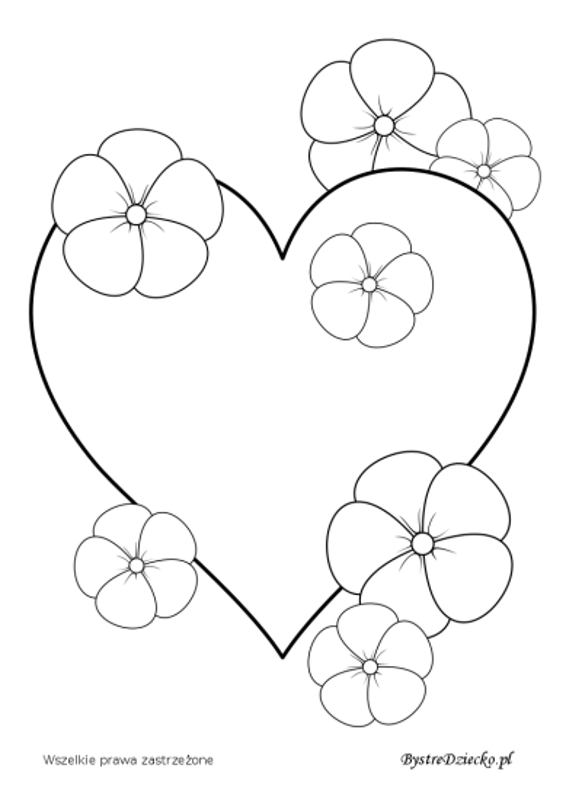 Kolorowanka serce - Kolorowanki na Walentynki dla dzieci do wydrukowania, Anna Kubczak