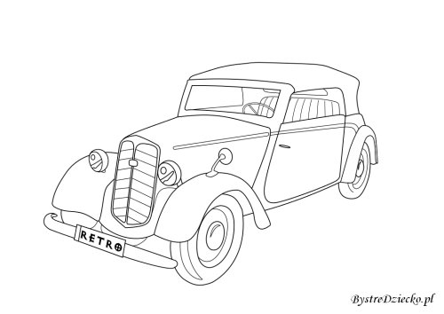 Vehicle coloring pages for kids, Anna Kubczak