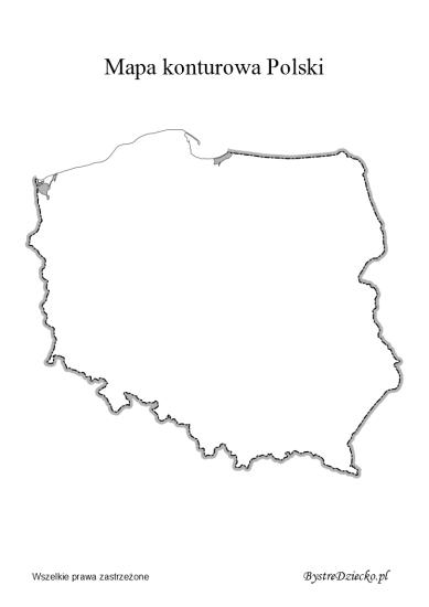 Mapa Konturowa Polski Bystre Dziecko