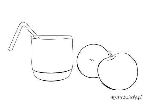 Glass of apple juice - free printable coloring pages for kids
