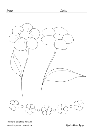 Flower coloring pages for kids, Anna Kubczak