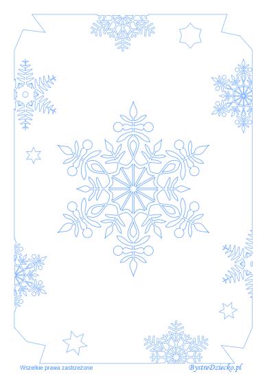 Płatki śniegu - kolorowanki zimowe, Anna Kubczak