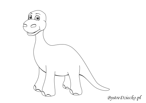 Dinozaur coloring pages for kids, Anna Kubczak