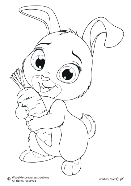 Zajączek, kolorowanki na Wielkanoc do druku dla dzieci, malowanki ze zwierzętami hodowlanymi || Easter bunny, Easter printable coloring page for kids, farm animals coloring book with rabbit