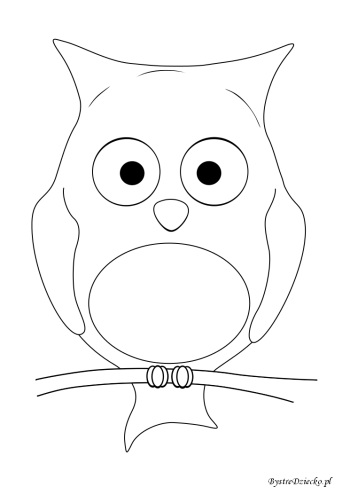 Owl coloring pages for kids, Anna Kubczak