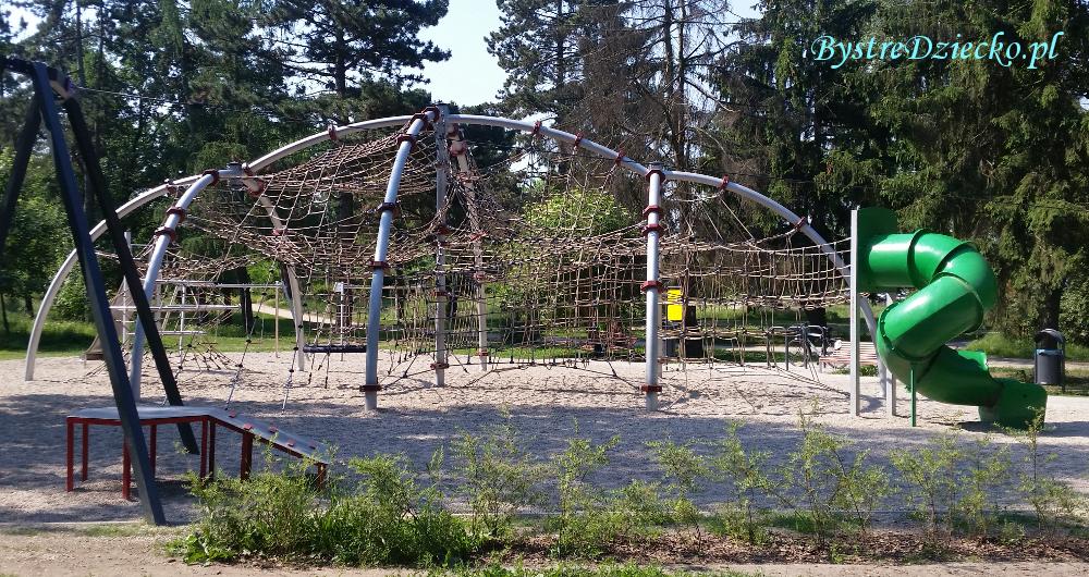 Plac zabaw dla dzieci, Wrocław, Park Grabiszyński i Górka Skarbowców, linarium - małpi gaj dla dzieci